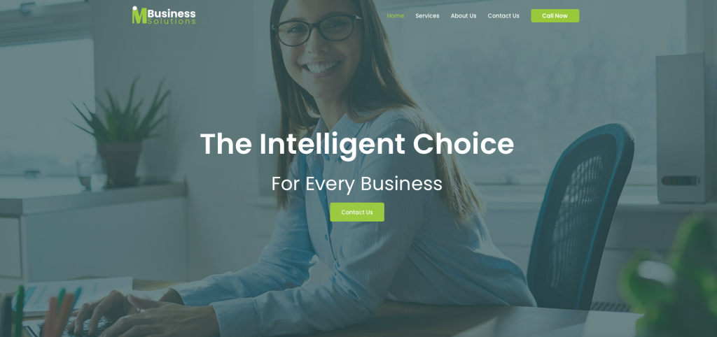 website sample work - I Am Business Solutions