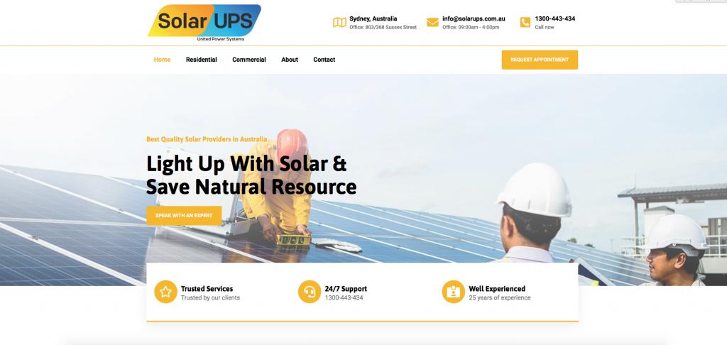 Online-now clientele - Solar UPS
