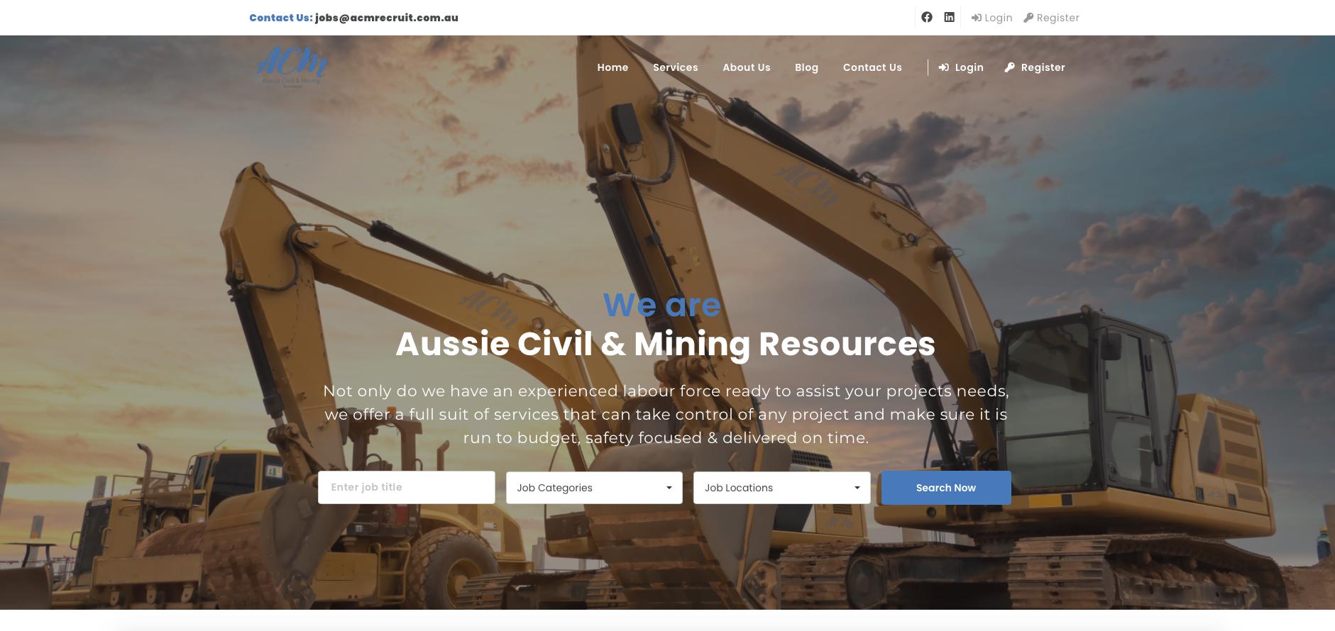 Online-now website sample - Aussie Civil & Mining Resources