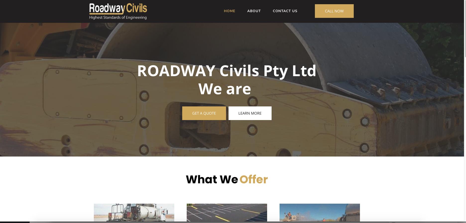 website sample work - Roadway Civils, highest standard of engineering